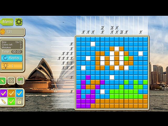 Around The World Mosaics - Screenshot
