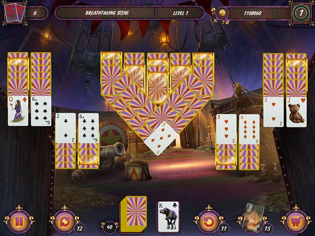 Dark Solitaire: Mystical Circus - Screenshot