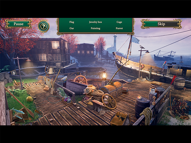 Detective Notes: Lighthouse Mystery Solitaire - Screenshot