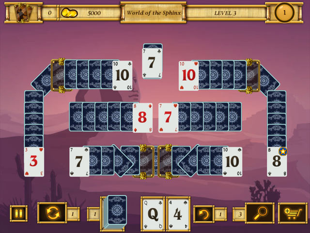 Egypt solitaire match 2 cards ipad iphone android mac for Big fish solitaire games