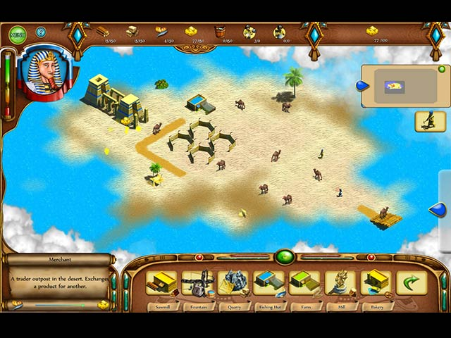 Egyptian settlement 2 new worlds ipad iphone android for Big fish games new