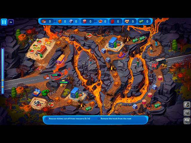 Emergency Crew: Volcano Eruption Collector's Edition - Screenshot