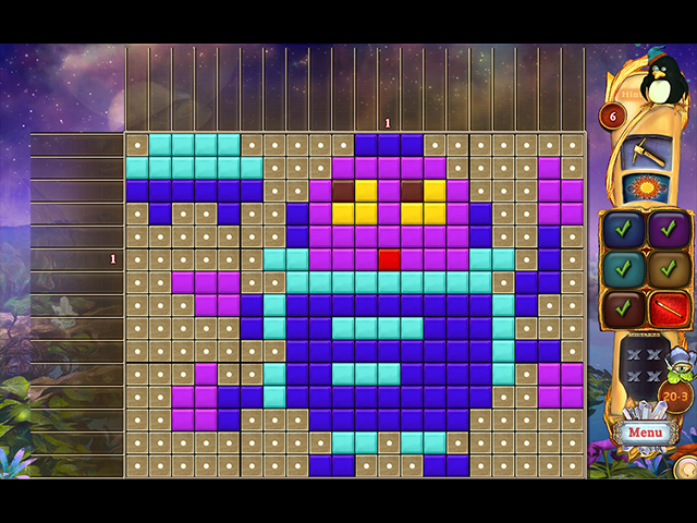 Fantasy Mosaics 40: Alien Abduction - Screenshot