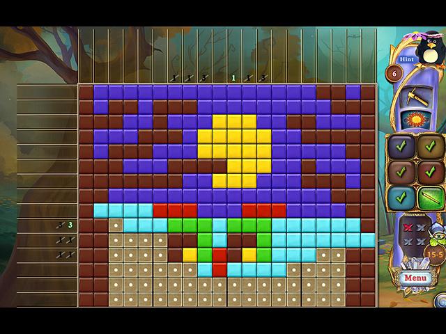 Fantasy Mosaics 43: Haunted Forest - Screenshot