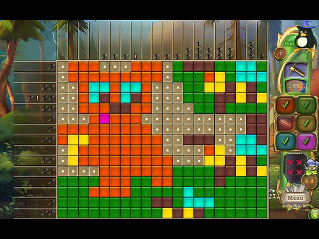 Fantasy Mosaics 48: Gnome's Puzzles - Screenshot