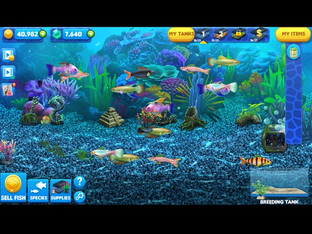 Fish tycoon 2 virtual aquarium ipad iphone android for Big fish games coupon