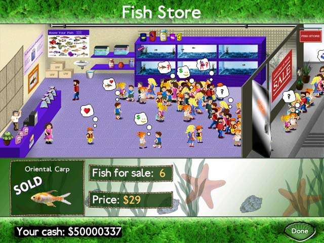 Play fish tycoon online games big fish for Big fish games jobs