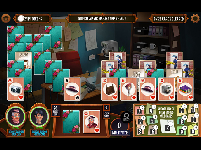 GO Team Investigates: Solitaire and Mahjong - Screenshot 1