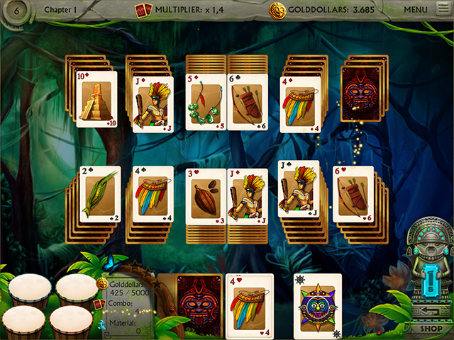 Gold of the Incas Solitaire - Screenshot