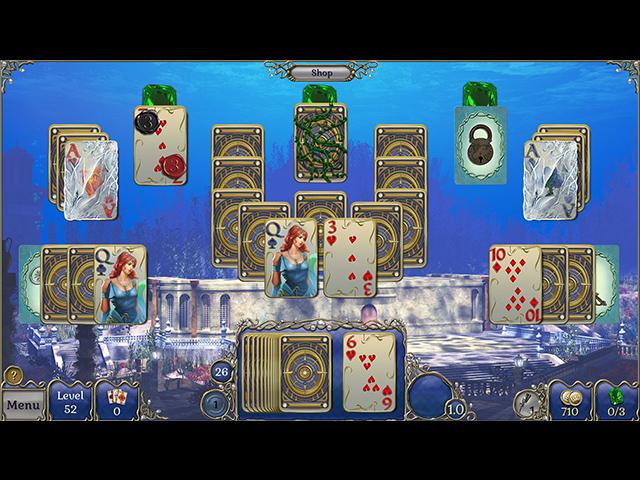 Jewel Match Solitaire: Atlantis 2 Collector's Edition - Screenshot