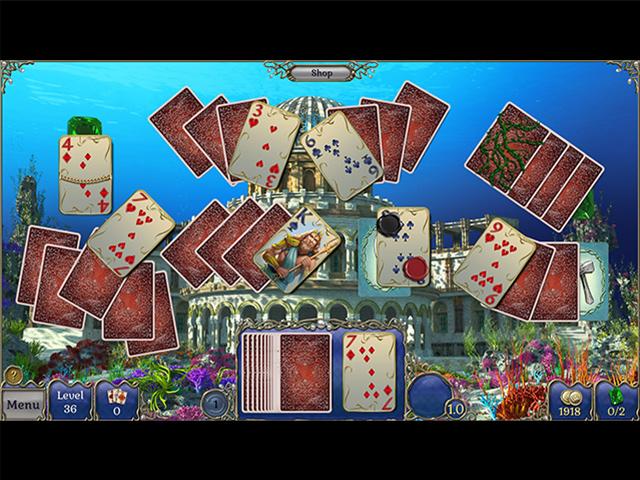 Jewel Match Solitaire: Atlantis 2 - Screenshot