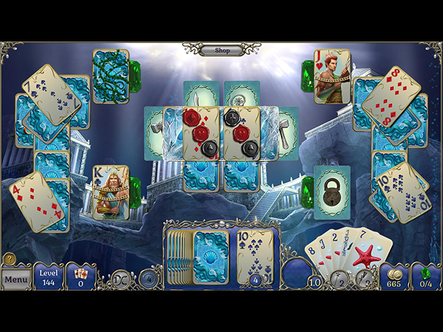 Jewel Match Solitaire: Atlantis Collector's Edition - Screenshot