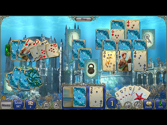 Jewel Match Solitaire Atlantis - Screenshot