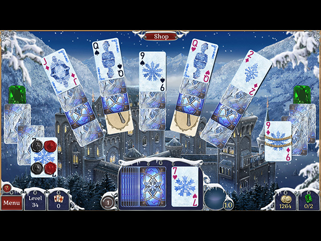 Jewel Match Solitaire: Winterscapes - Screenshot