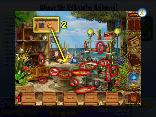Mysteries of magic island strategy guide ipad iphone for Big fish casino promo codes