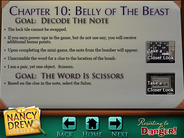 Nancy Drew Dossier: Resorting to Danger Strategy Guide > iPad