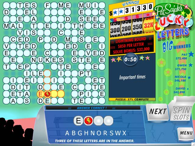 Pat Sajak's Lucky Letters > iPad, iPhone, Android, Mac & PC