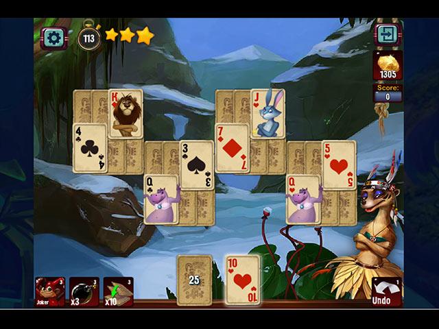 rainforest solitaire card board