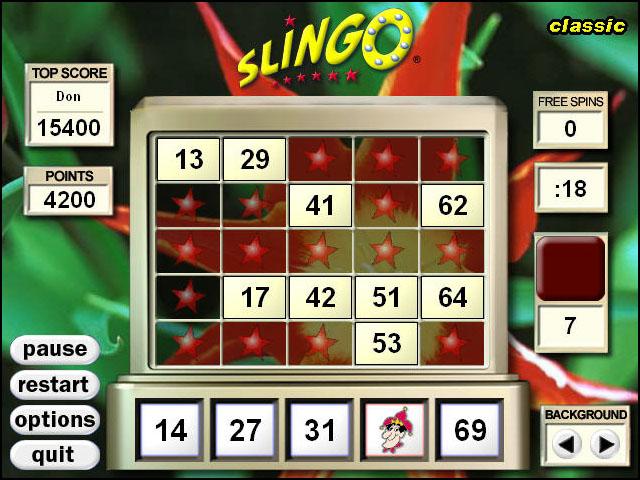 Slingo Game