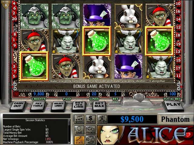 Video for Slot Quest: Alice in Wonderland
