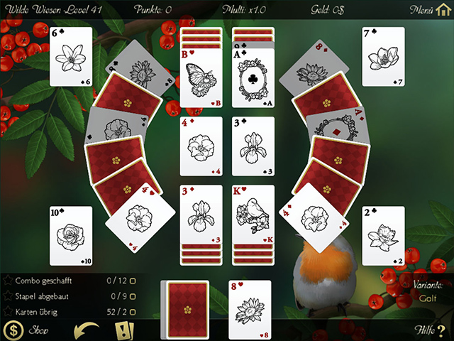 Solitaire: Beautiful Garden Season - Screenshot