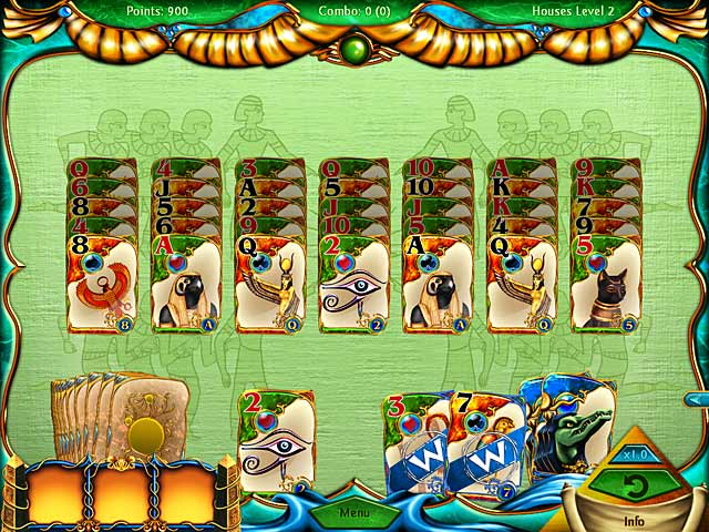 Solitaire egypt ipad iphone android mac pc game for Big fish solitaire games