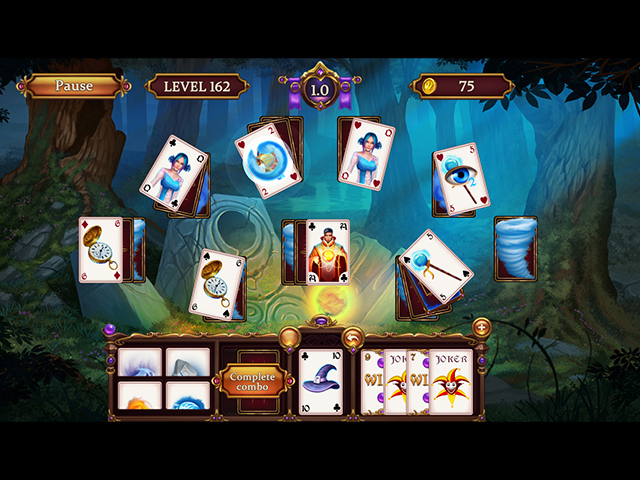 Solitaire: Elemental Wizards - Screenshot