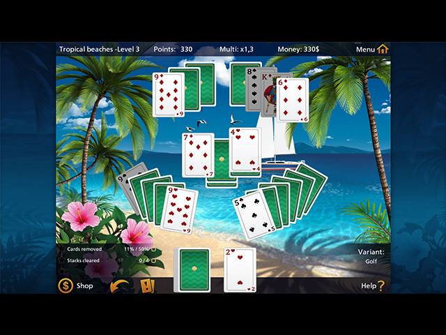Solitaire Holiday Season - Screenshot