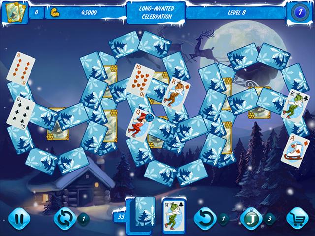Solitaire Jack Frost: Winter Adventures 3 - Screenshot