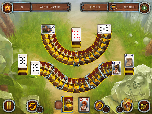 Solitaire Legend Of The Pirates 3 - Screenshot