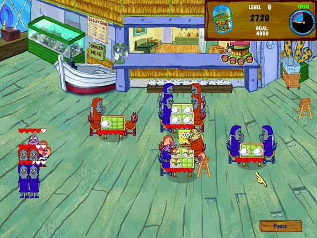 Spongebob diner dash 2 ipad iphone android mac pc for Big fish cooking games