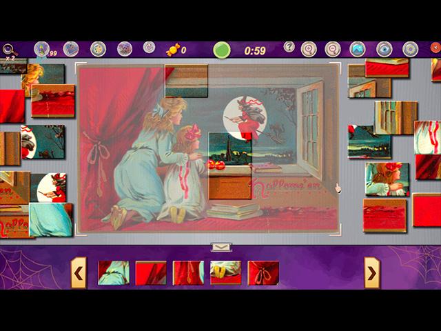 Sweet Holiday Jigsaws: Halloween Night - Screenshot