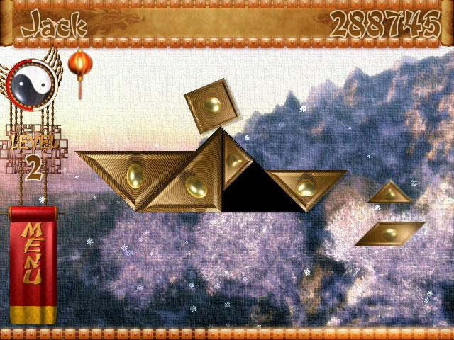 Temple of Tangram Game