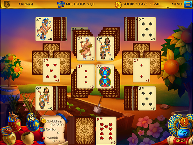 The Artifact of the Pharaoh Solitaire - Screenshot