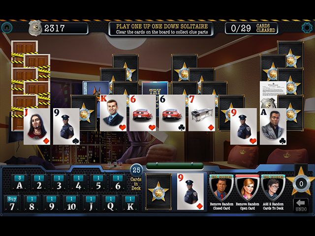 The Flaw in the Fall: Solitaire Murder Mystery - Screenshot