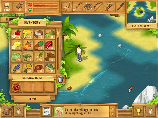 Play the island castaway online games big fish for Big fish games online