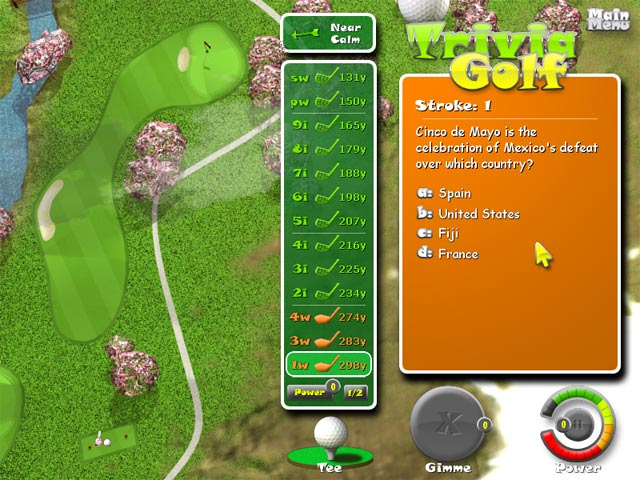 Trivia golf ipad iphone android mac pc game big fish for Big fish golf