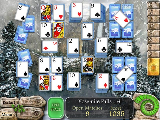 Waterscape solitaire american falls ipad iphone for Big fish solitaire games