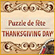 Puzzle de fête. Thanksgiving Day