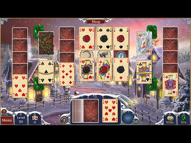 Jewel Match Solitaire: Winterscapes screen1