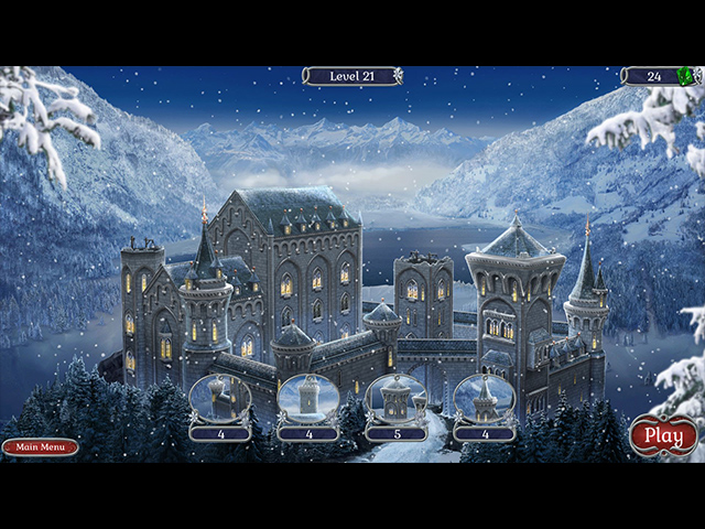 Jewel Match Solitaire: Winterscapes screen3