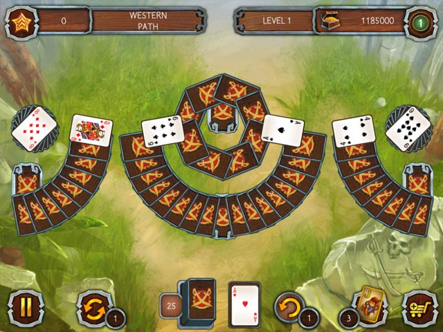 Solitaire Legend of the Pirates screen1