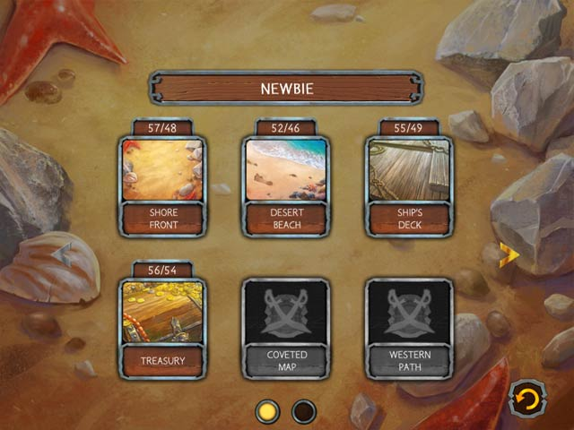 Solitaire Legend of the Pirates screen2